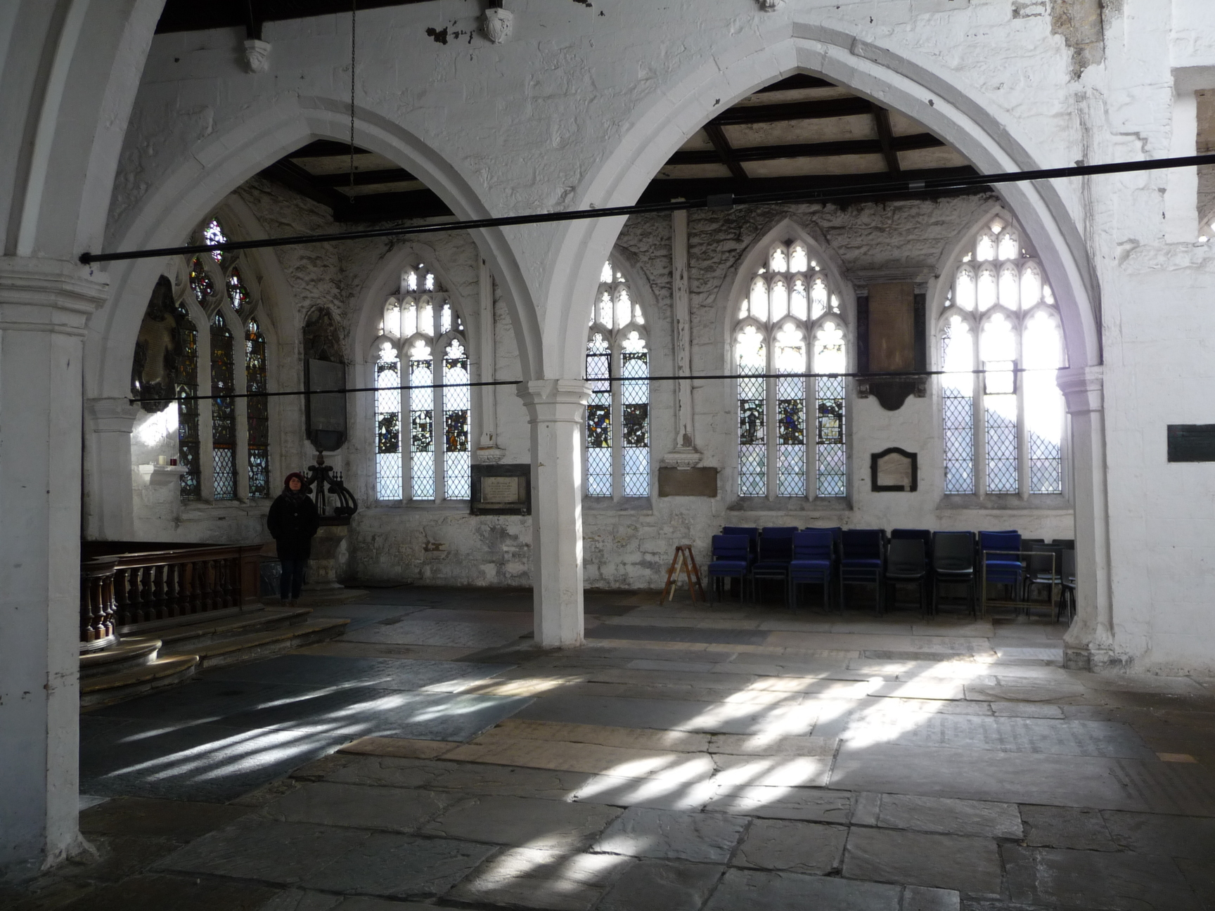 Interior looking south