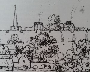 Micklegate in 1677 - note St Martin cum Gregory with its spire