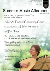 Stained Glass Centre Summer Music Afternoon Poster 2